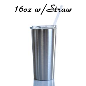16 oz with straw
