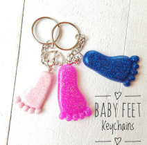 Baby Feet Key Chains
