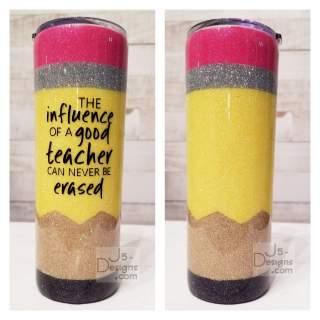 Personalized Glitter Pencil Tumbler