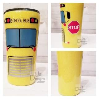 Personalized Glitter Bus Driver Tumbler (copy)