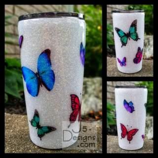 Butterfly Glitter Tumbler